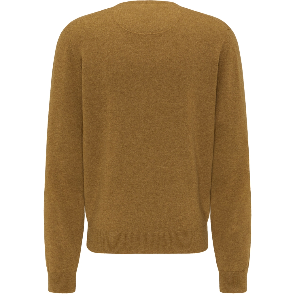 Fynch Hatton Pure Lambswool Crew Neck Sweater - Mustard