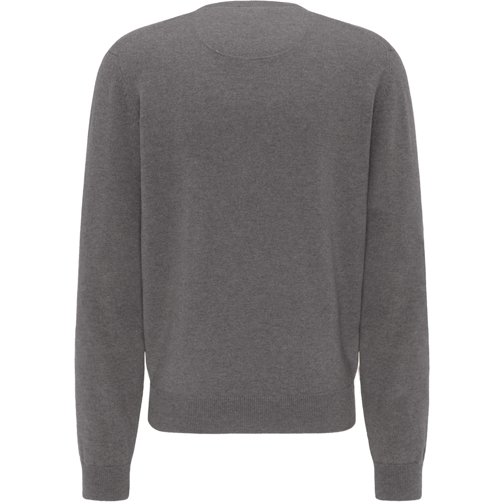 New 2020 Fynch Hatton Pure Lambswool Crew Neck Sweater - Ashgrey