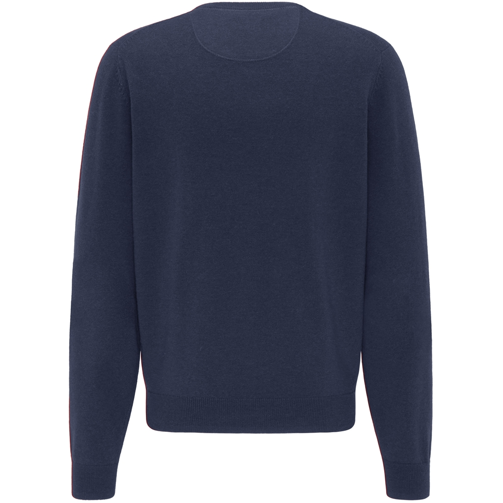 New 2020 Fynch Hatton Pure Lambswool  V-Neck Sweater - Ink