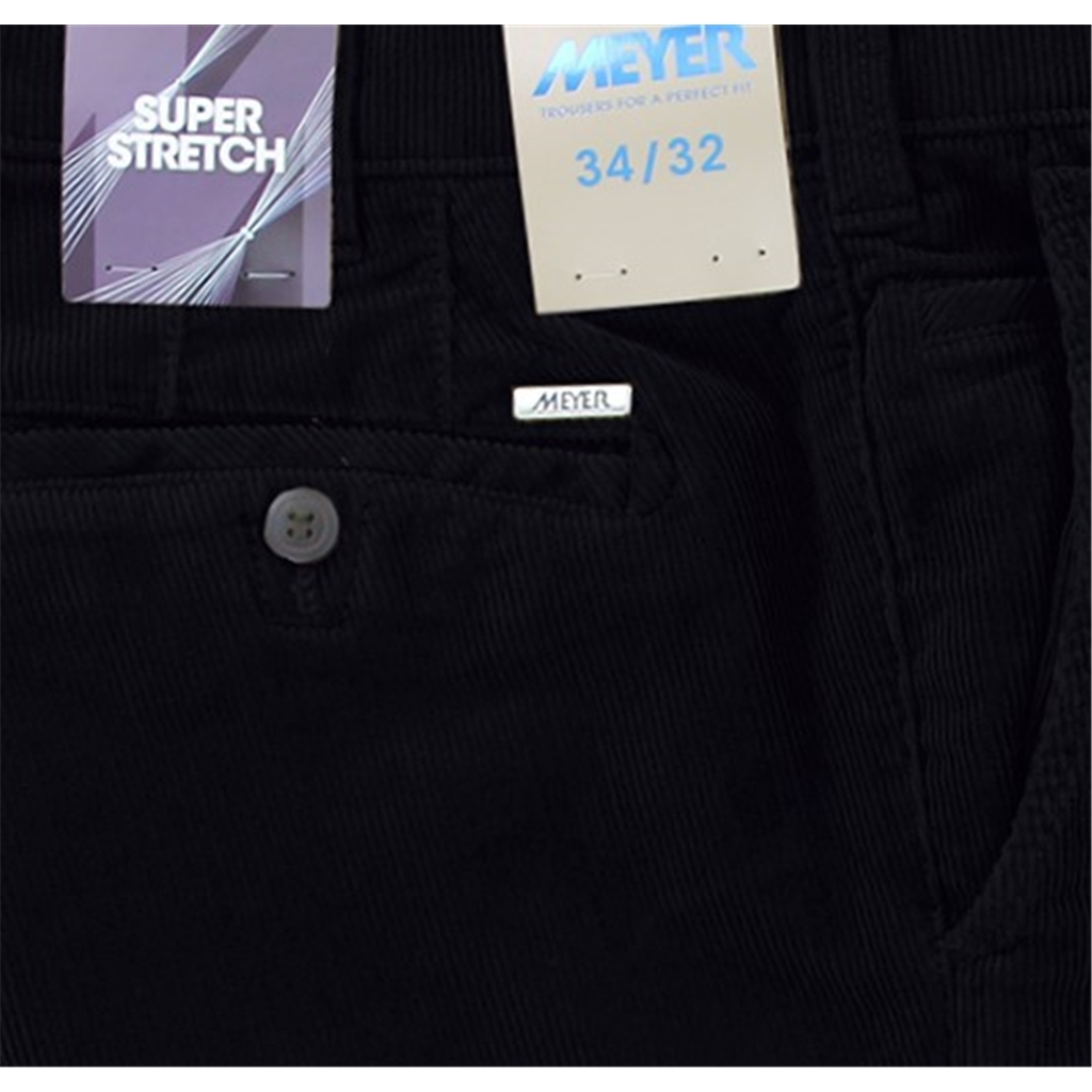 Meyer Cotton Corduroy Trouser - Roma 3702 18 - Navy