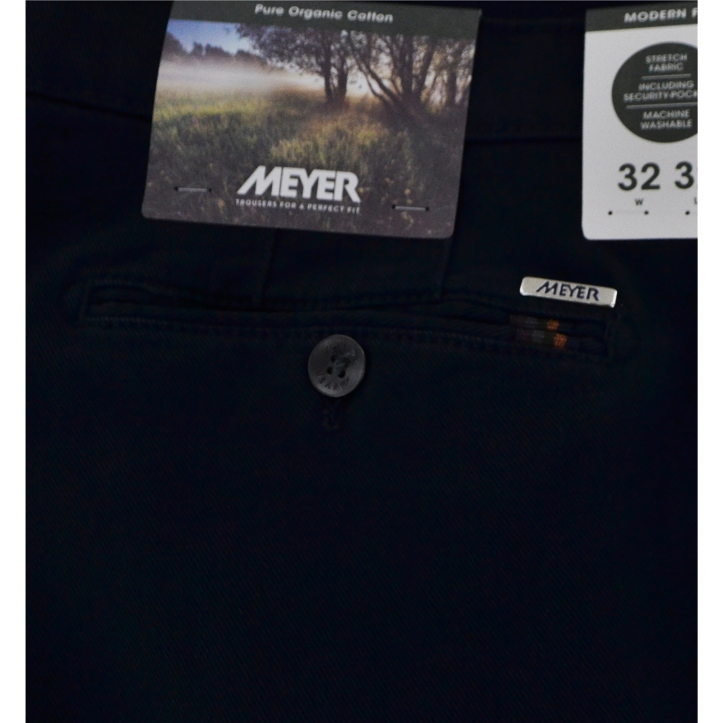 Meyer Cotton Twill Trouser - Navy - Rio 3521 19