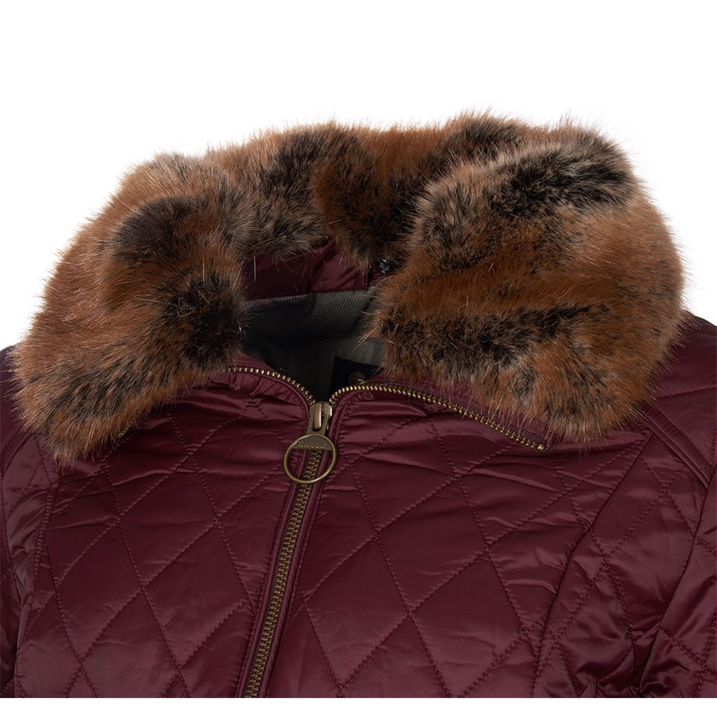 Barbour Hawthorns Quilted Jacket - Winter Blackberry