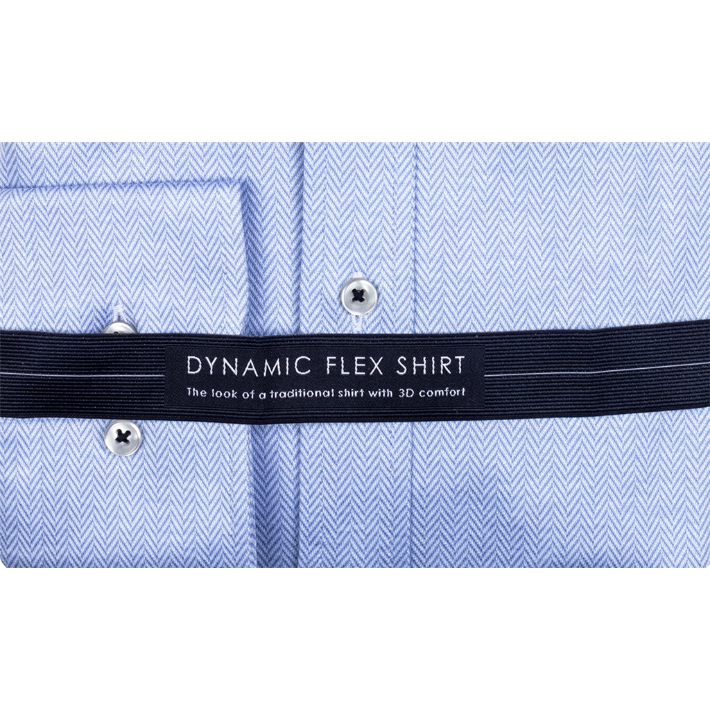 New 2020 Giordano Modern Fit Button Down Cotton Shirt - Herringbone  Wave Blue