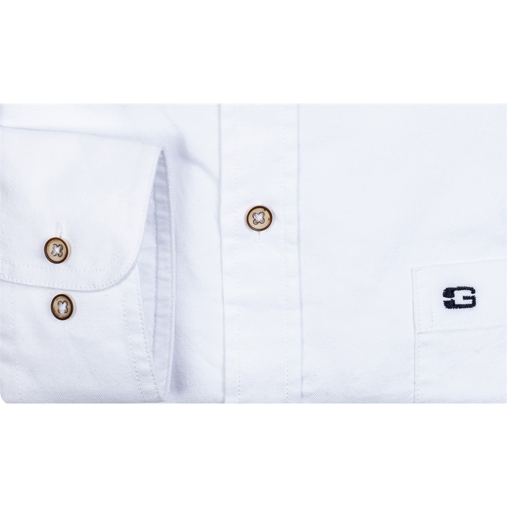 New 2020 Giordano Regular Fit Soft  Cotton Shirt - White
