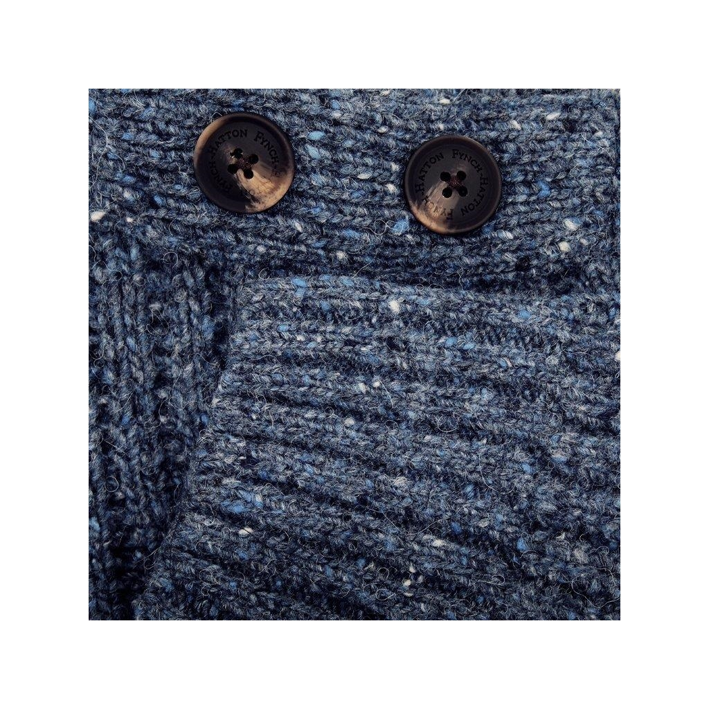 New 2020 Fynch Hatton Pure Lambswool  Sweater - Indigo