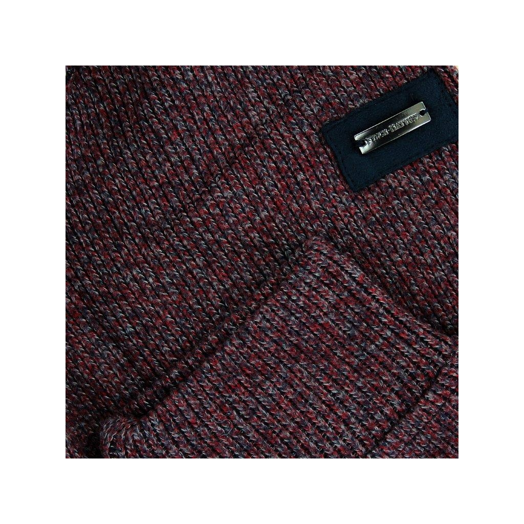 New 2020 Fynch Hatton Half Zip Cotton Sweater - Merlot