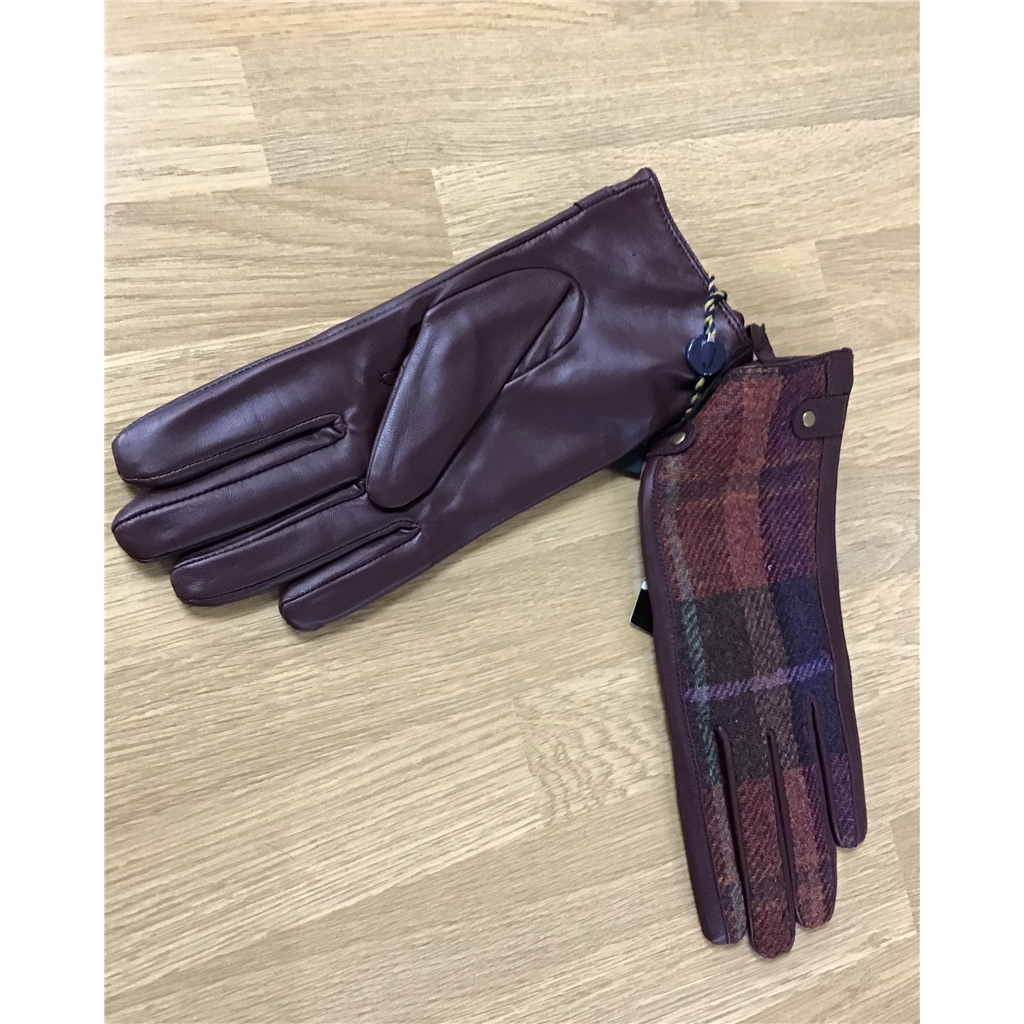 Failsworth Tweed Gloves - Merlot