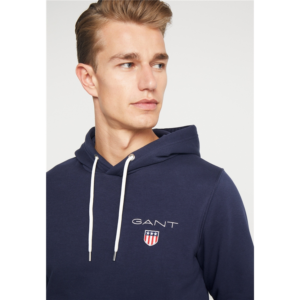 New 2020 Gant Medium Shield Hoodie - Navy