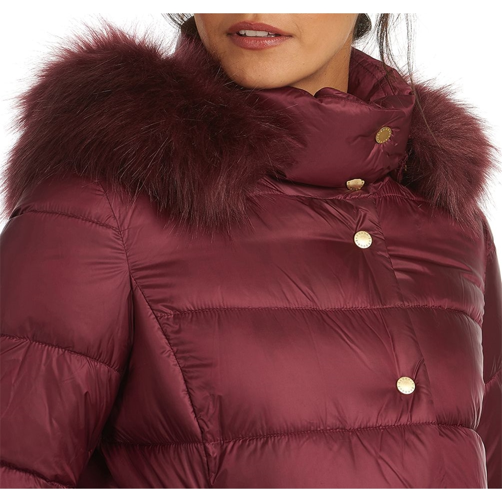 Barbour Earn Quilted Jacket - Garnet
