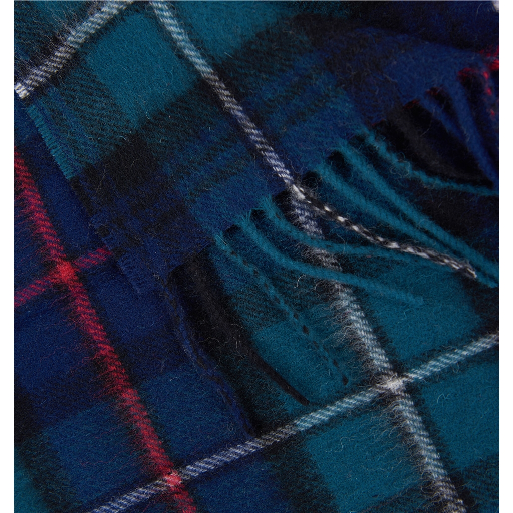 Barbour New Check Tartan Scarf - Green