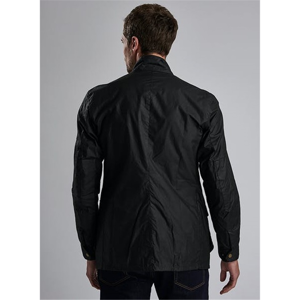 Barbour Lightweight Duke Waxed Jacket - Black
