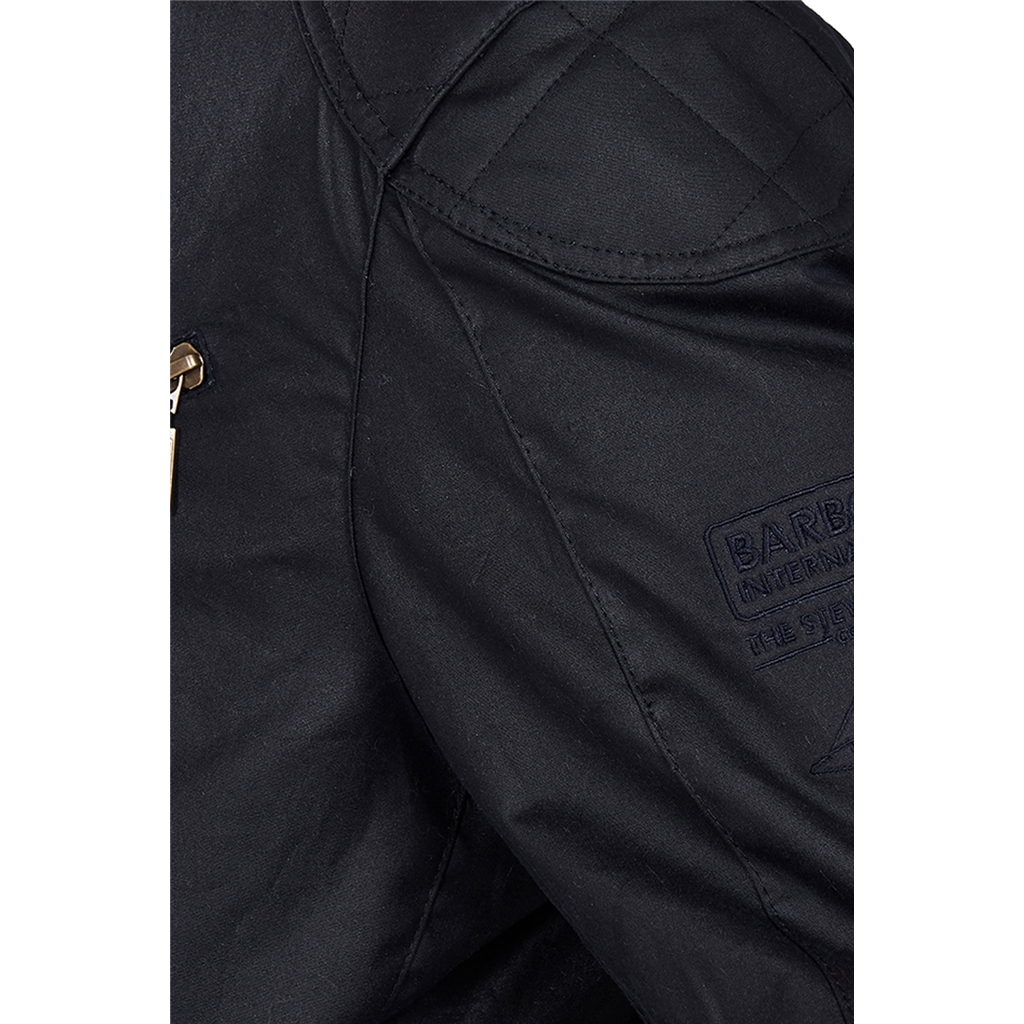New 2021 Barbour International Placer Wax Jacket - Navy