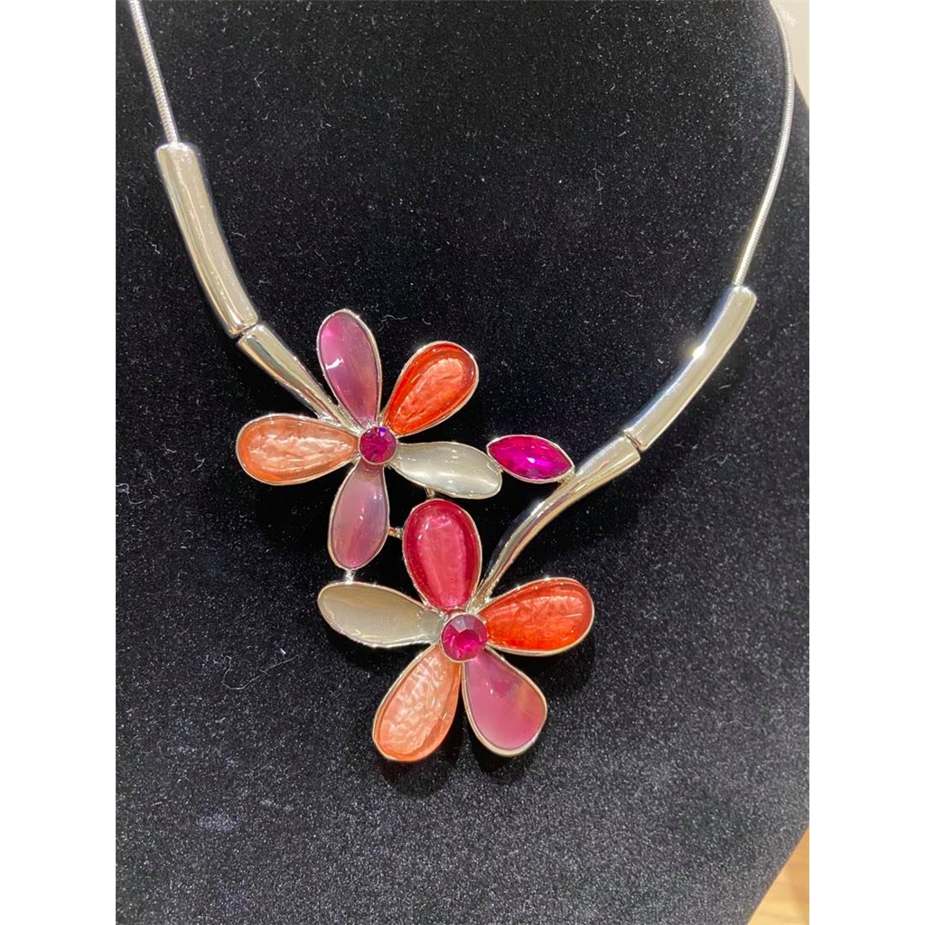 Dante Flower Necklace - Pink
