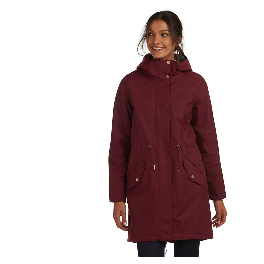 New 2020 Barbour Perthshire Jacket - Burgundy