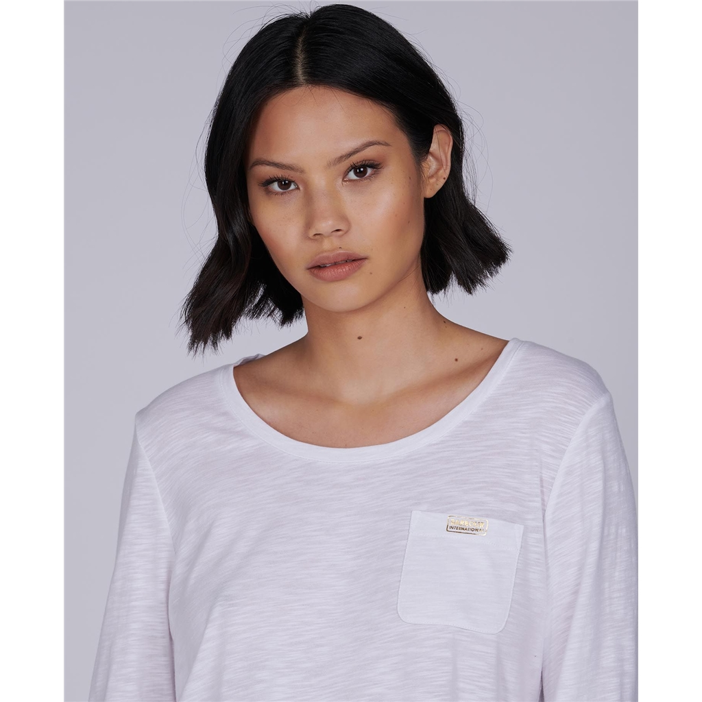Spring 2021 Barbour International Pace Top - White