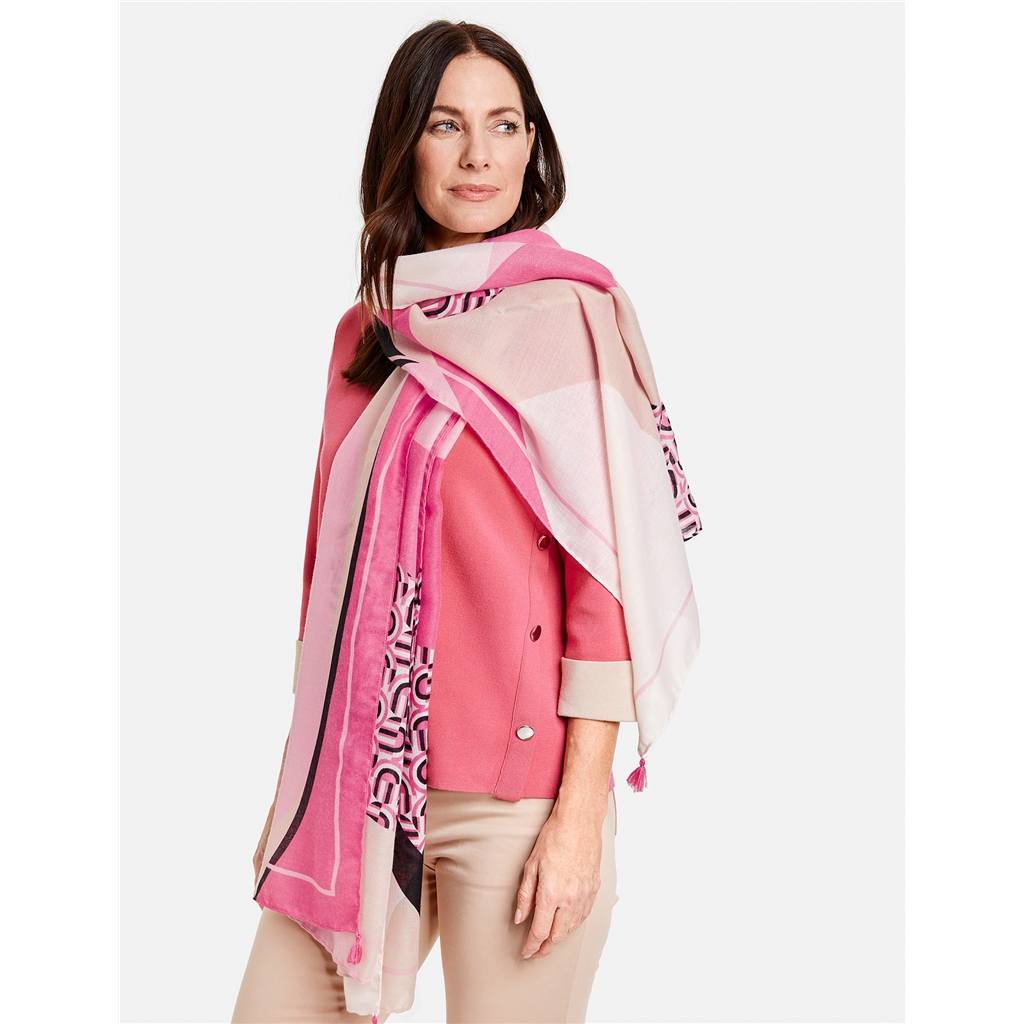 Gerry Weber Patterned Scarf - Pink