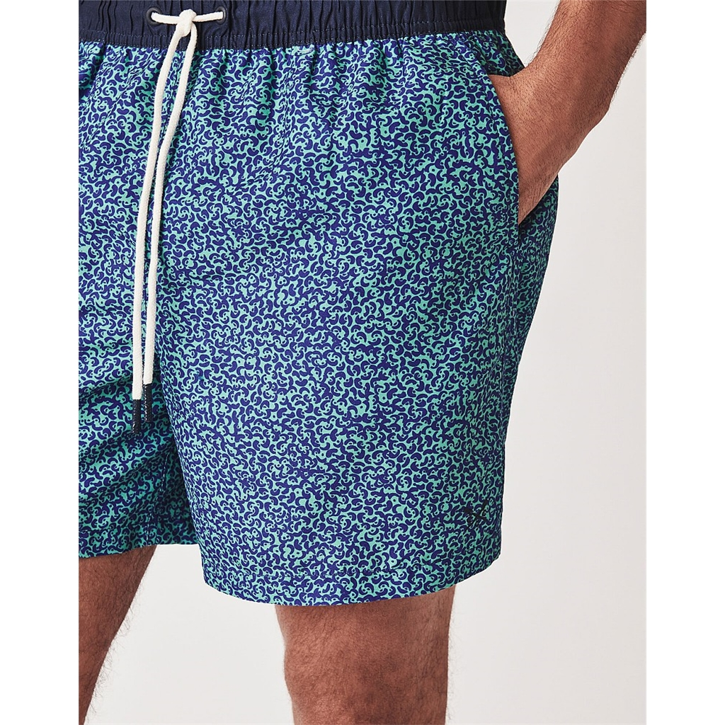 Crew Men's Pattern Print Swim Short - Blue