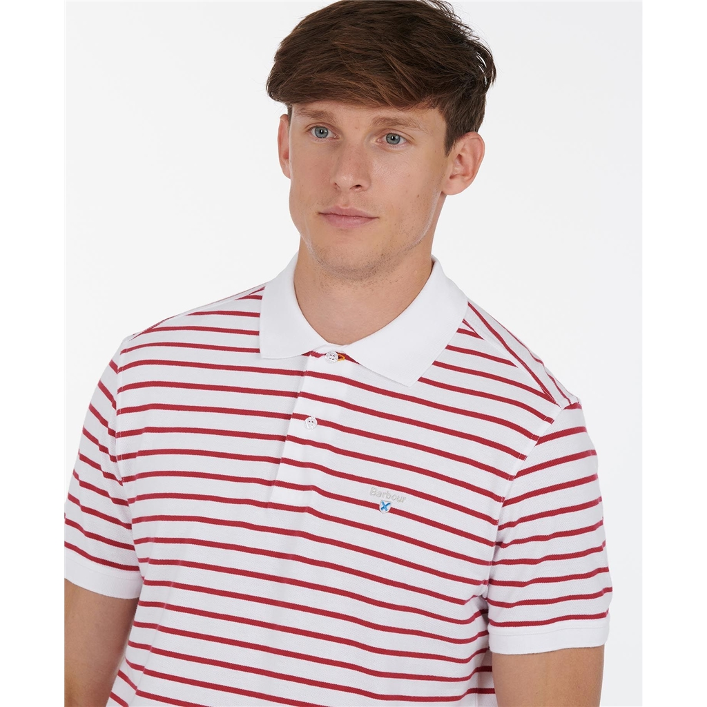 Spring Barbour 2021 Men's Styhead Stripe Polo - White