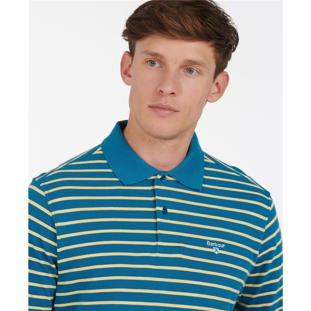 Spring Barbour 2021 Men's Styhead Stripe Polo - Lyons Blue