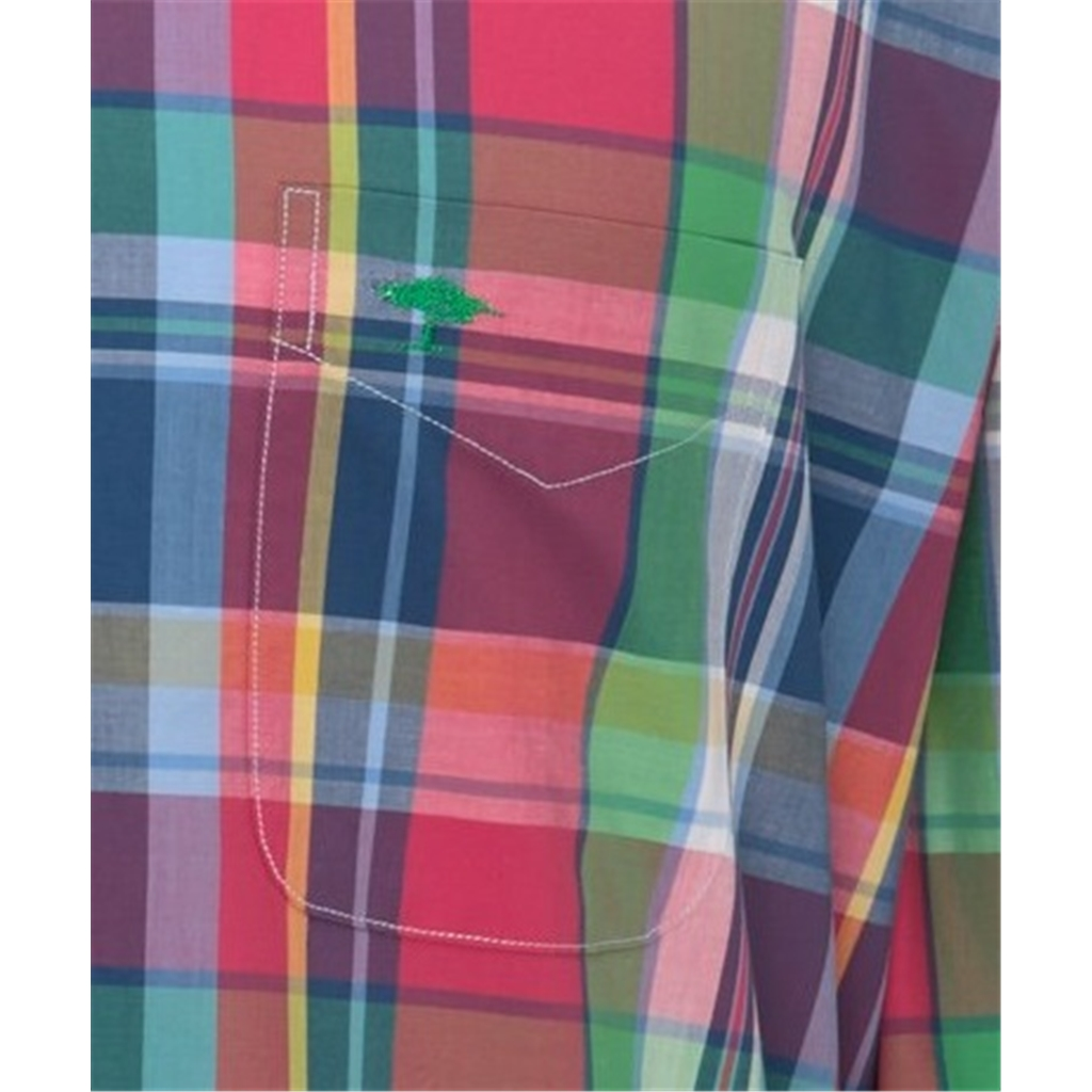 New 2021 Fynch Hatton Premium Soft Cotton Shirt - Navy Madras Check