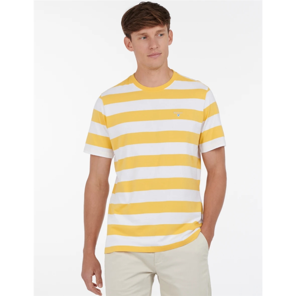 Spring Barbour 2021 Men's Beach Stripe Tee - Sun