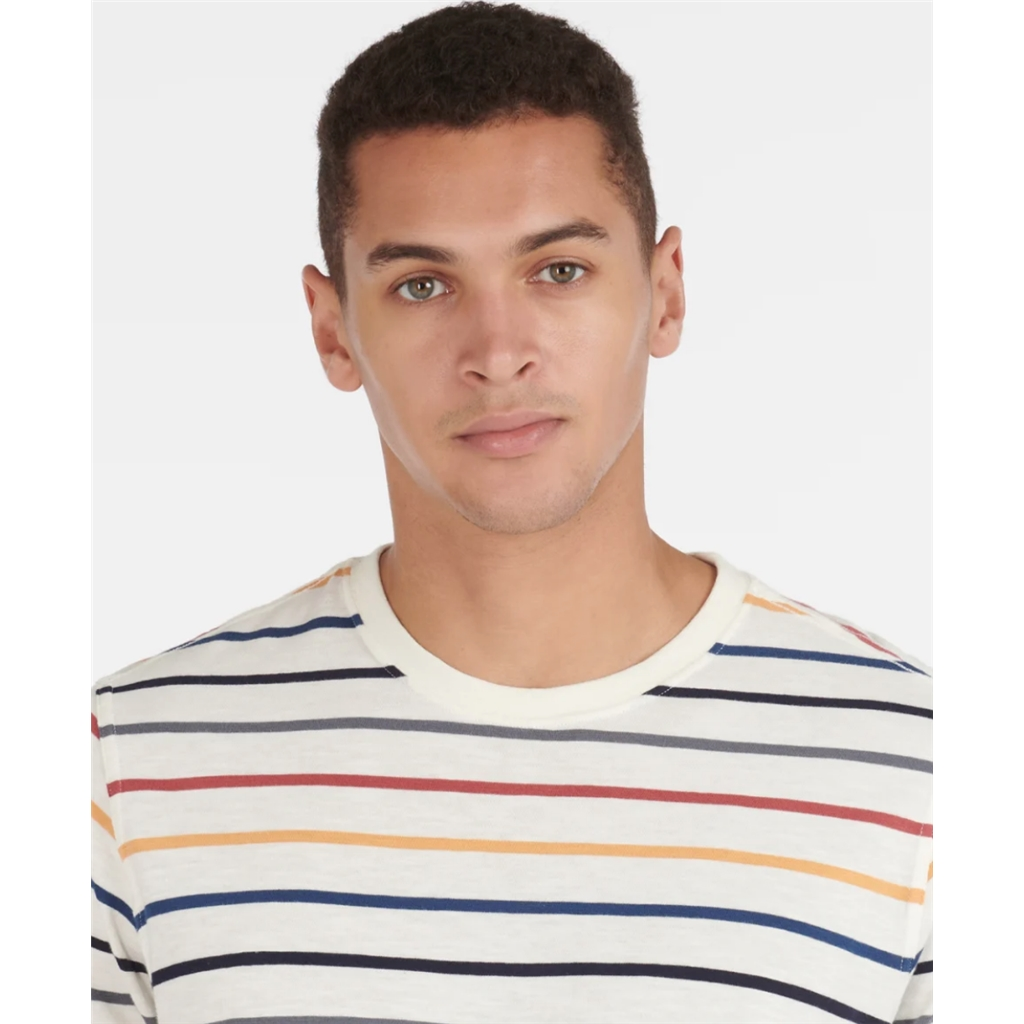 Spring Barbour 2021 Men's Summer Stripe Tee - Ecru