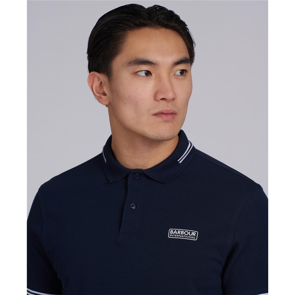 Barbour 2021 Men's International Essential Tipped polo - Navy