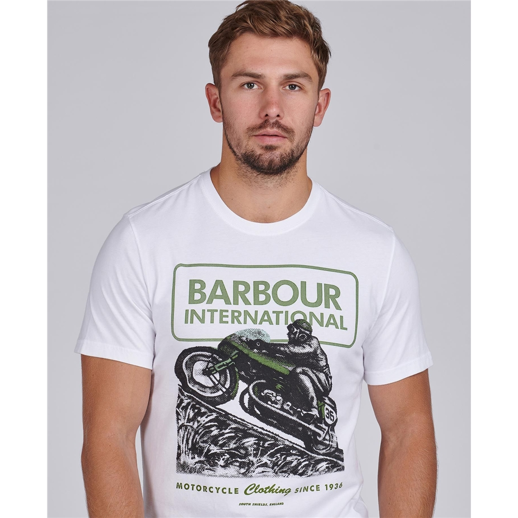 Barbour 2021 Men's International Archive Downforce Tee - White