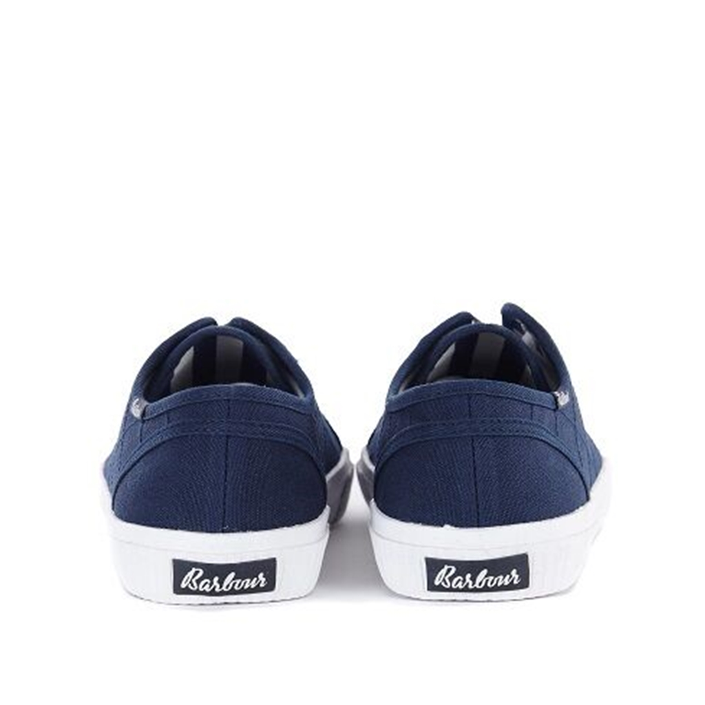 Spring Barbour 2021 Hailey Canvas Trainers - Navy