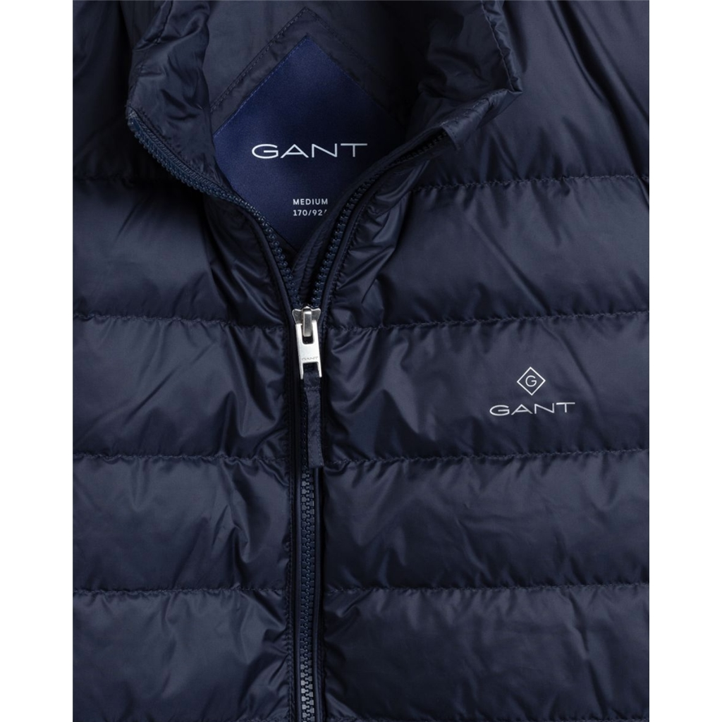 New 2021 Gant Light Down Gilet - Evening Blue