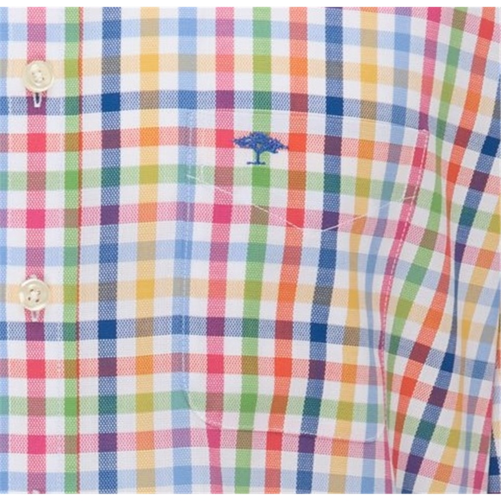 New 2021 Fynch Hatton Soft Touch Cotton Shirt - Combi Check