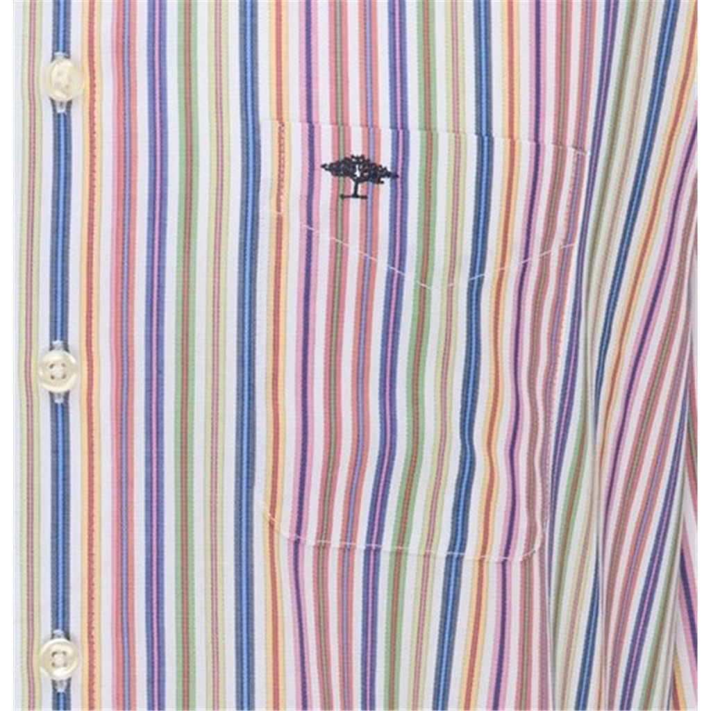New 2021 Fynch Hatton Soft Touch Cotton Shirt - Colourful Stripe