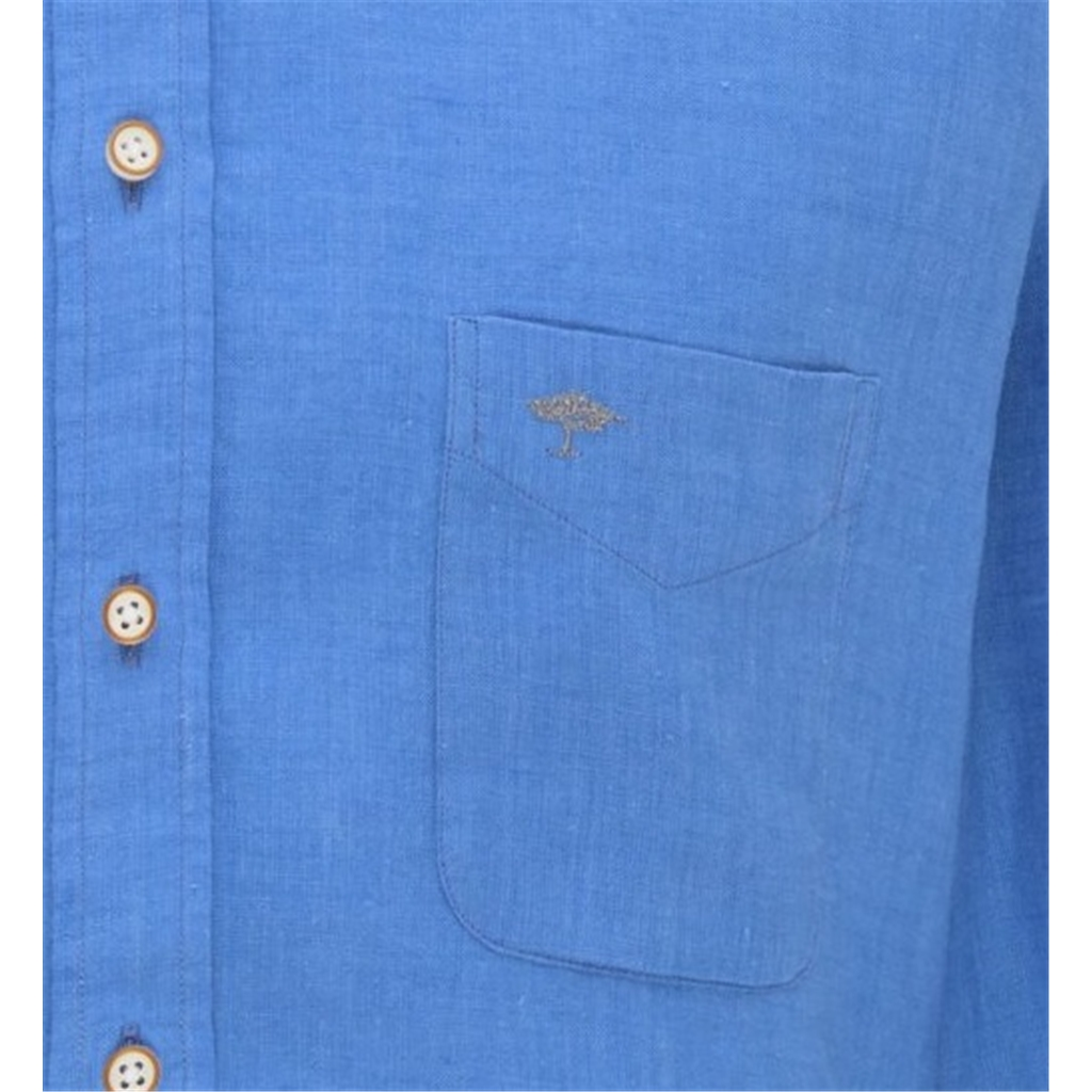 New 2021 Fynch Hatton Supersoft Linen Shirt - Ultramarine