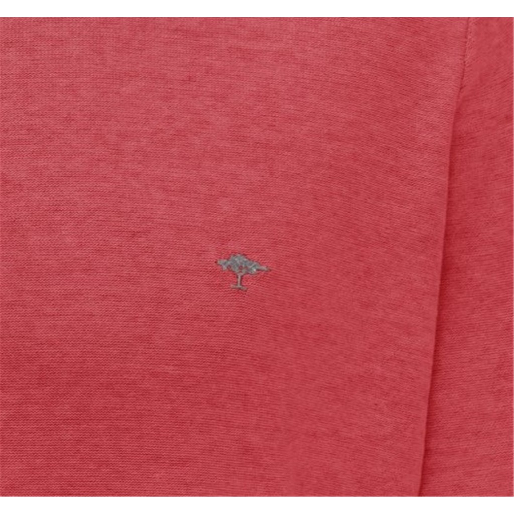 New 2021 Fynch Hatton Superior Plated Cotton Crew Neck Sweater - Lobster Hibiscus