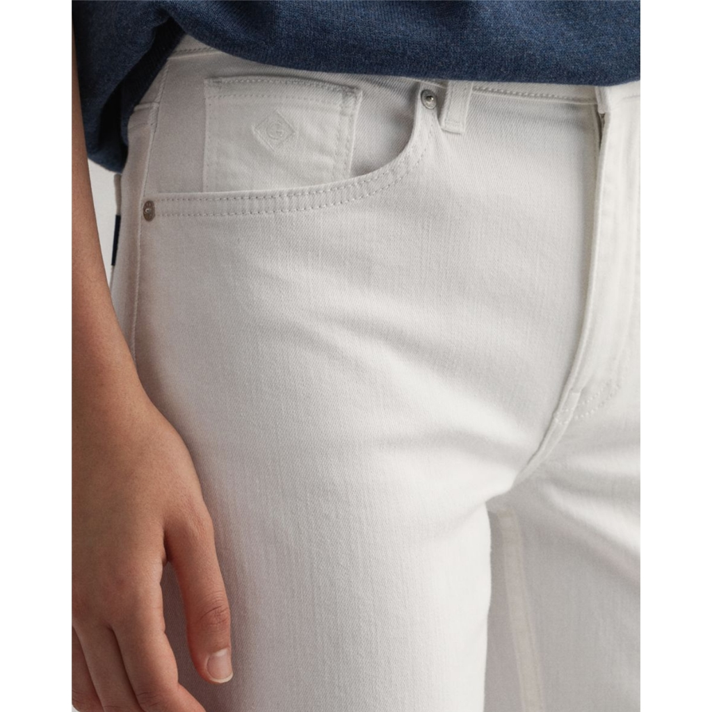 Gant Womens Regular Fit Hayle Jeans - White