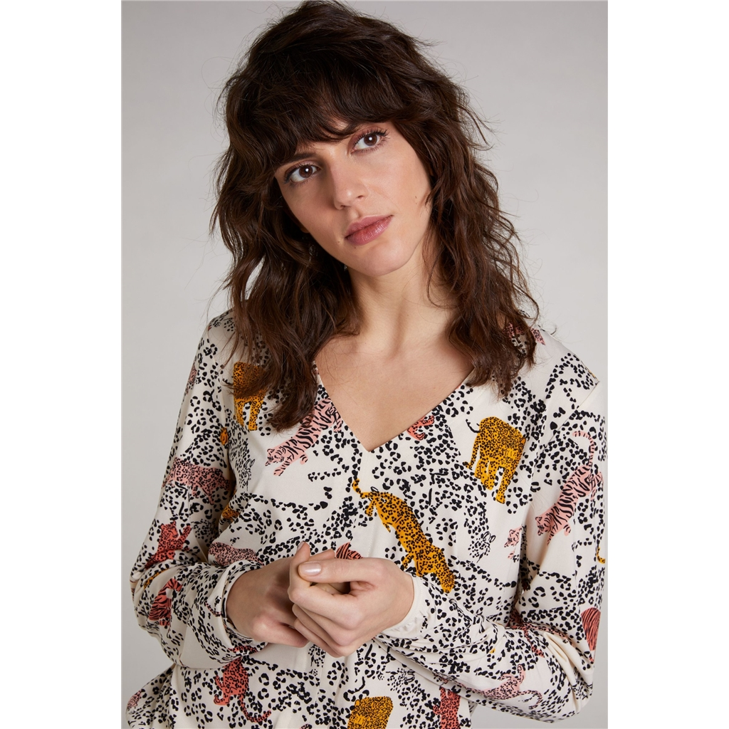 Oui Animal Print Blouse - Multi