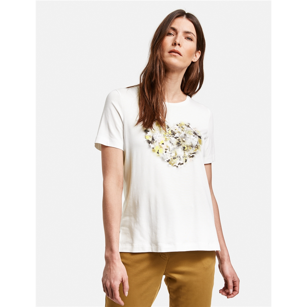 Gerry Weber Floral Heart T-shirt - White