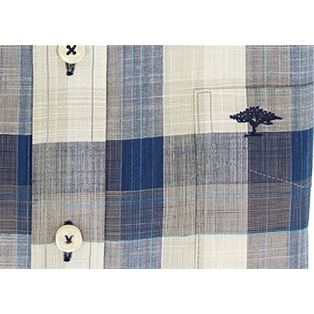 New 2021 Fynch Hatton Supersoft Cotton Shirt - Navy Check