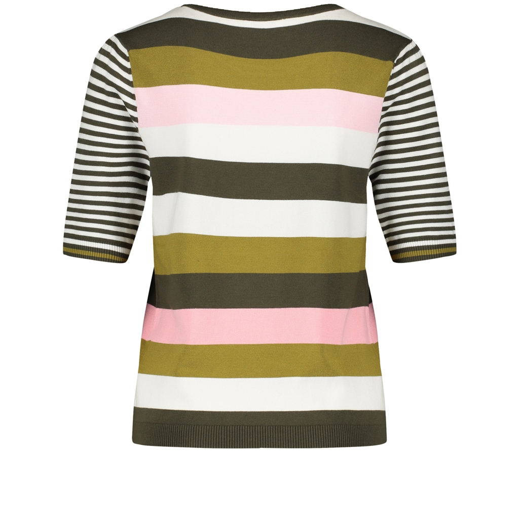 Gerry Weber Stripe 3/4 Sleeve Jumper