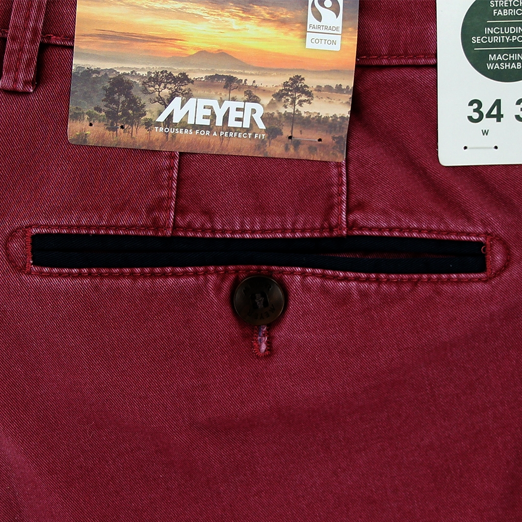 New 2021 Summer Meyer Cotton Trouser - Red - New York 5001 56