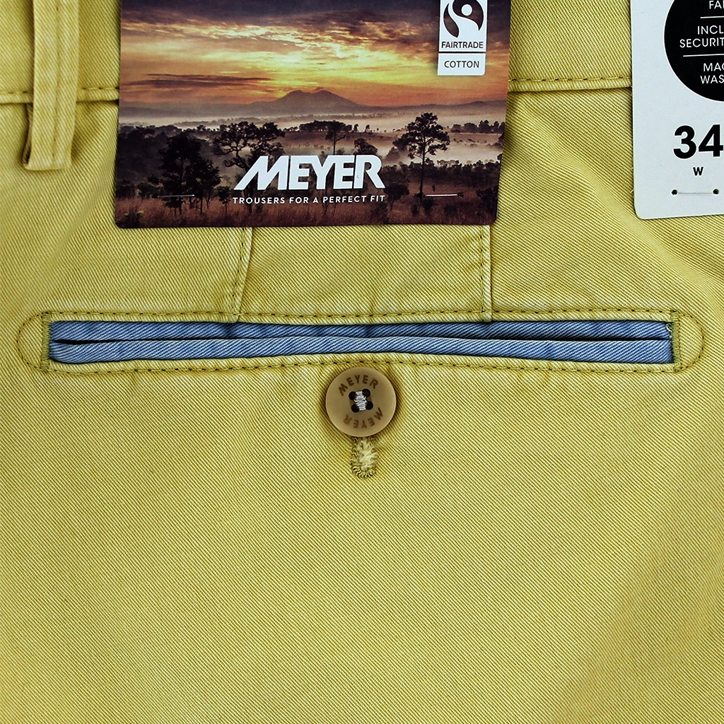 New 2021 Summer Meyer Cotton Trouser - Yellow - New York 5001 42