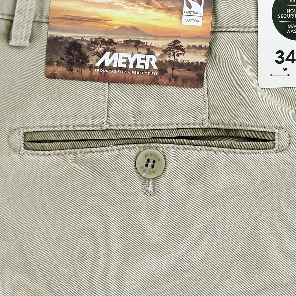 New 2021 Summer Meyer Cotton Trouser - Beige  - New York 5001 32