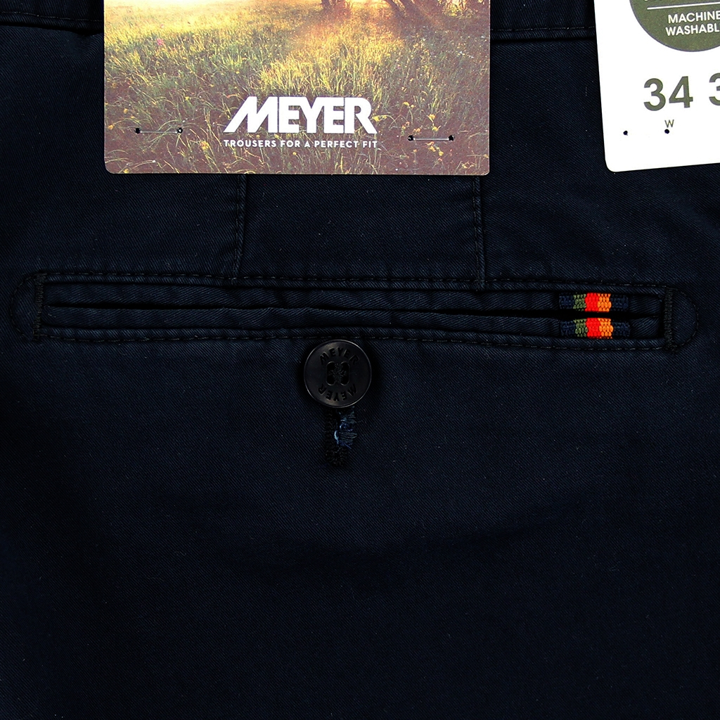 New 2021 Meyer Cotton Trouser - Navy - Rio 3130 19