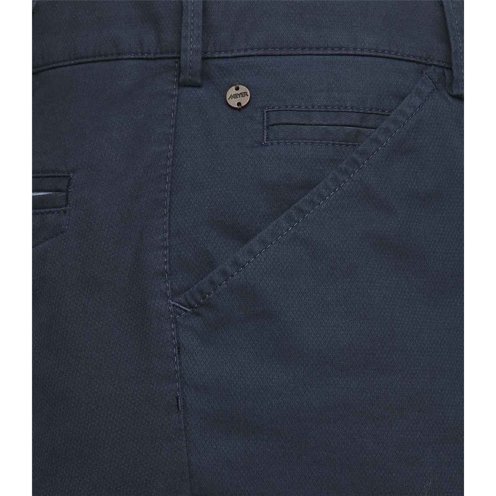 New 2021 Meyer Micro Structure Cotton Chino Trouser - Navy- Chicago 5039 19