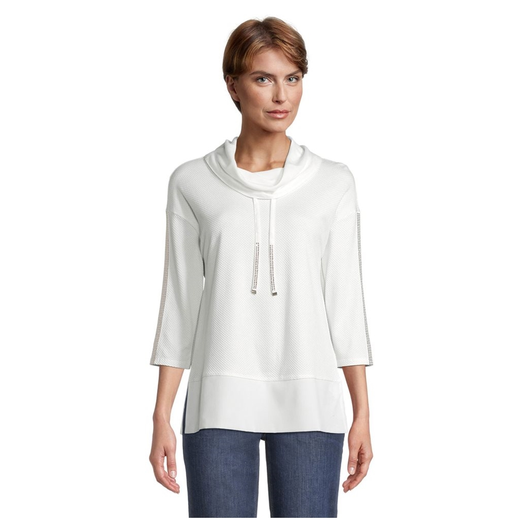 Betty Barclay Cowl Neck Jumper - White