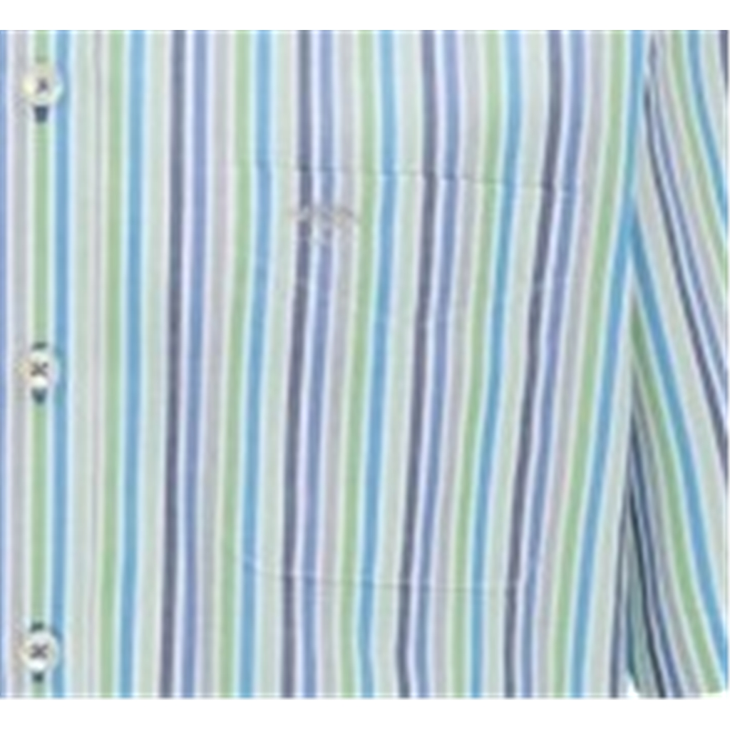 New 2021 Fynch Hatton  Supersoft Cotton Short Sleeve Shirt - Cactus Stripe