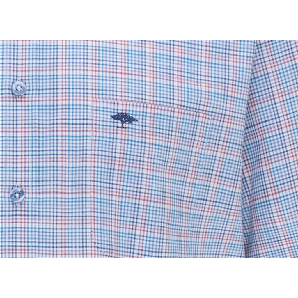 New 2021 Fynch Hatton  Supersoft Cotton Short Sleeve Shirt - Small Malaga Check