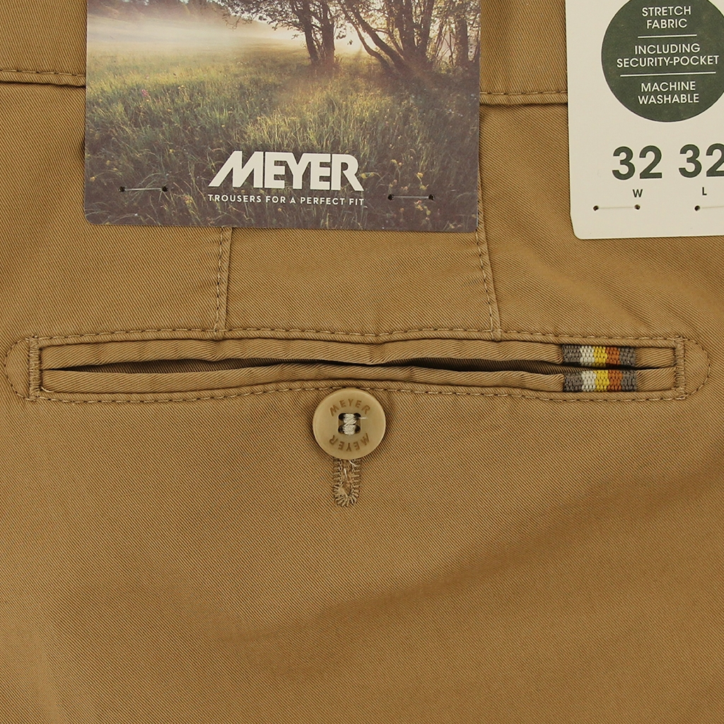 New 2021 Meyer Cotton Trouser - Tan - Rio 3130 44