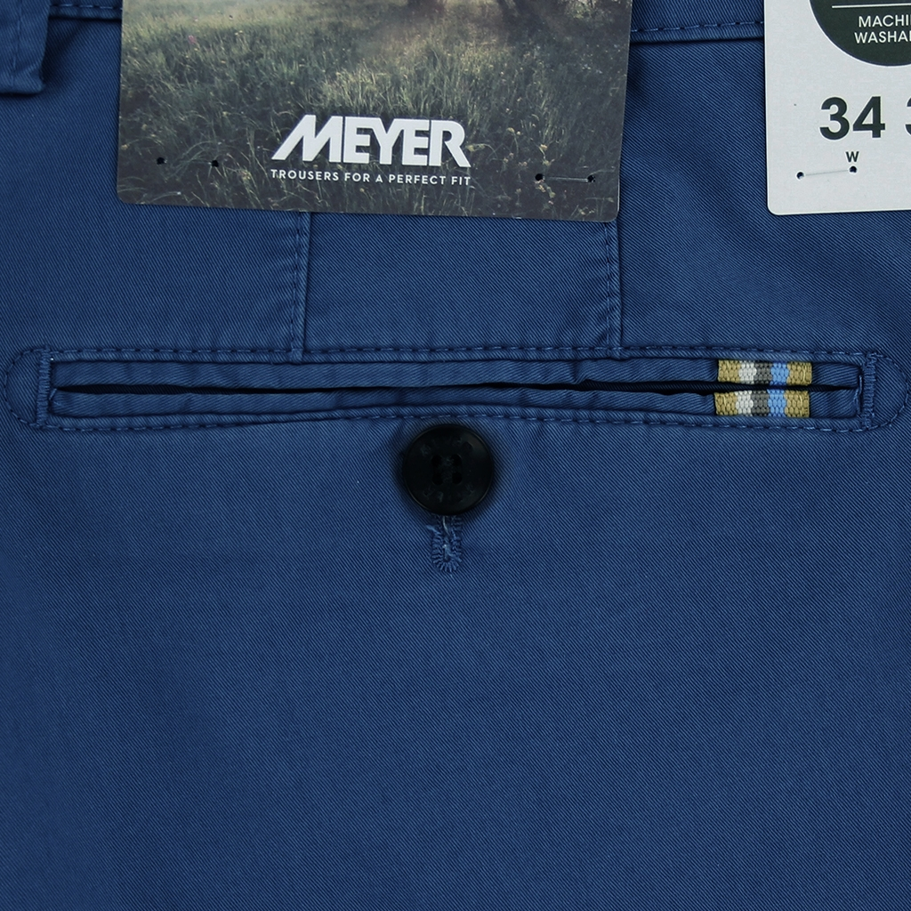 New 2021 Meyer Cotton Shorts - Mid Blue - Palma 3130 17