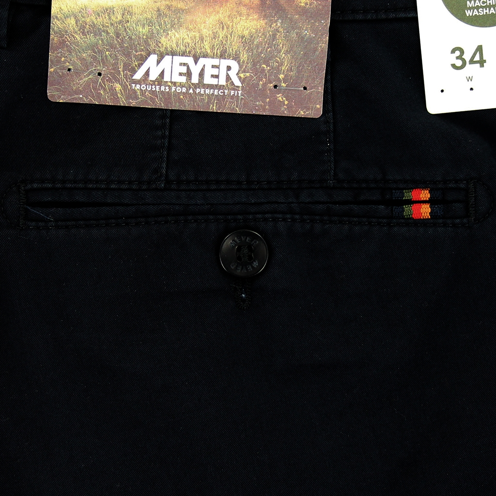 New 2021 Meyer Cotton Shorts - Navy - Palma 3130 19